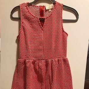 Nordstrom Red and White Polka Dotted Dress